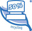50% Recycling Material