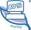 80% Recycling Material